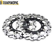 купить Hight Quantily Motorcycle Front Floating Brake Disc Rotor For YAMAHA YZF 600 R6 2003-2006 YZF1000 R1 2004 2005 2006 онлайн