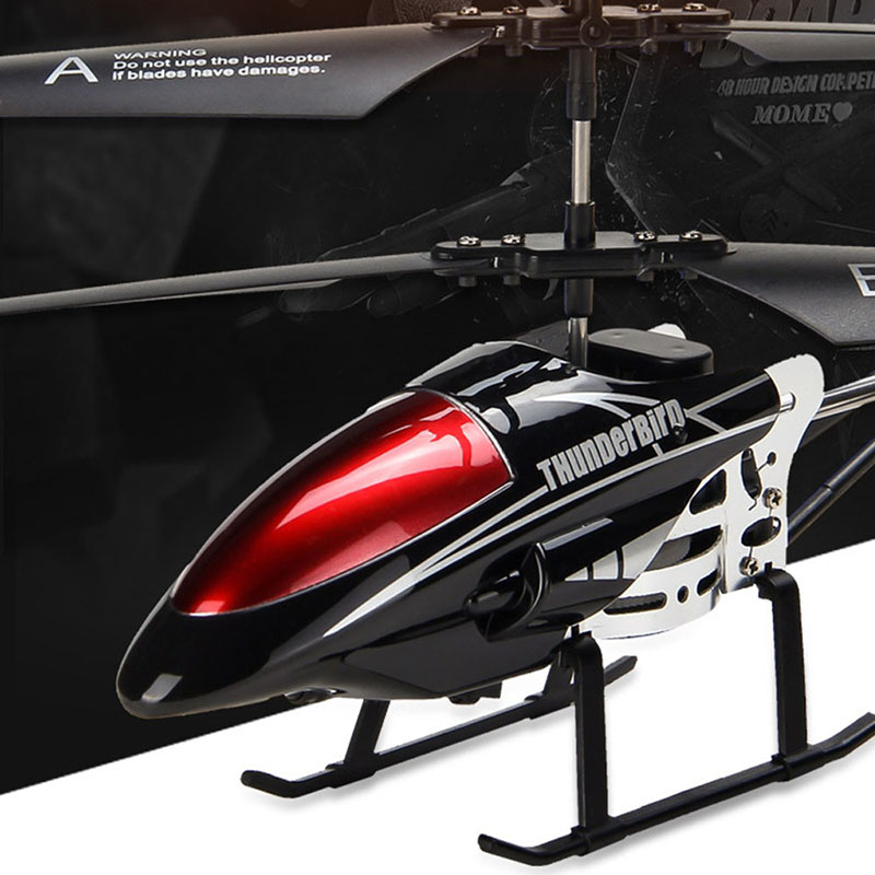 RC Helicopter Radio-Control Led-Light Flying-Toys Gift Children With Shatterproof Model