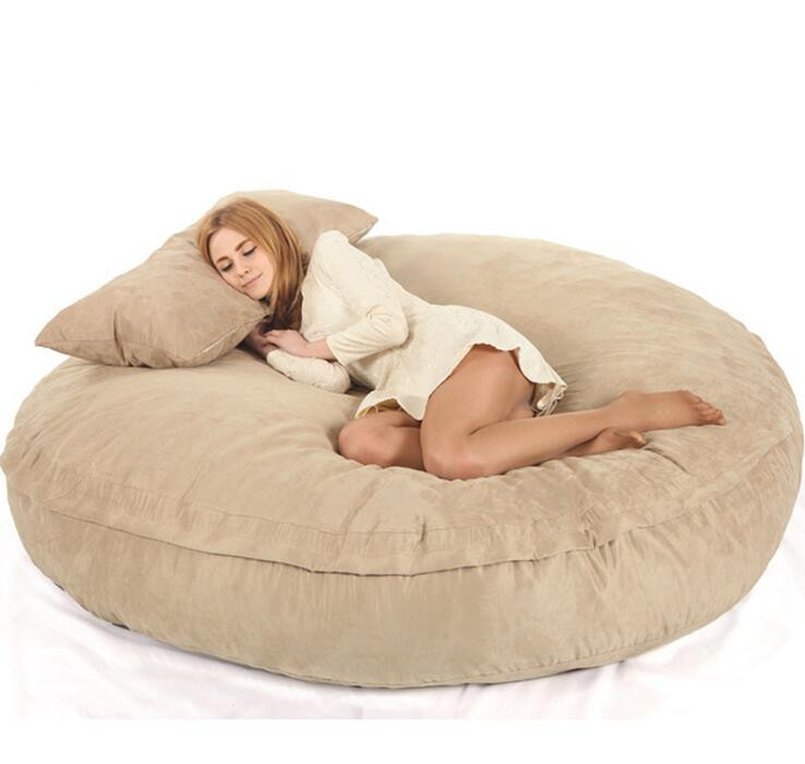 Online Shop XXL Bean Bag Chair For Adult Bags Lazy COVER Not Included Fillings With High Quality MICRO SUEDE