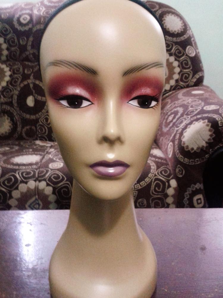 CAMMITEVER noir femme coiffure poupées Mannequin tête avec filet tête d'entraînement pour les coiffeurs