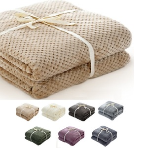 Image 1 - Flannel Fleece Luxury Blanket Cream Camel Smoke Blue Queen Size Light Weight Cozy Plush Microfiber Solid Blanket by CAMMITEVER