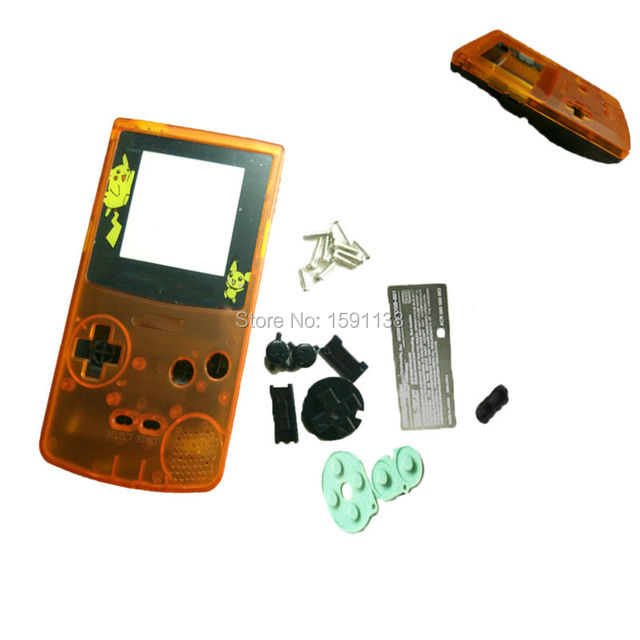 US $11 39 43% OFF|New Custom Made GBC Shell Mix Orange Black Color Limited  Cartoon Plastic LENS For GameboyColor Console Boy Color Game System -in