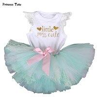 Tutu Set Baby Girl Clothes Birthday Newborn Lace Bodysuit Tutu Skirt 1st Birthday Outfit Cute Toddler