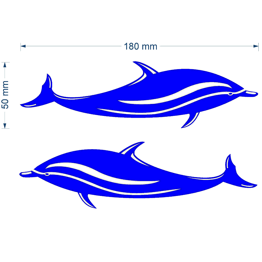 2 Pieces Blue Dolphin Decal Stickers For Kayak Canoe Boat Car Caravan Accessories Waterproof And Durable
