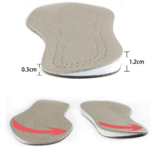 Cowhide Leather Shoe Insoles Orthotic Bow Leg Genu Varum Cor