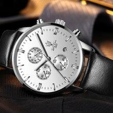 Модные Фортуна индивидуальный quart повседневное часы хронограф циферблат печать curren для мужчин браслет наручные часы