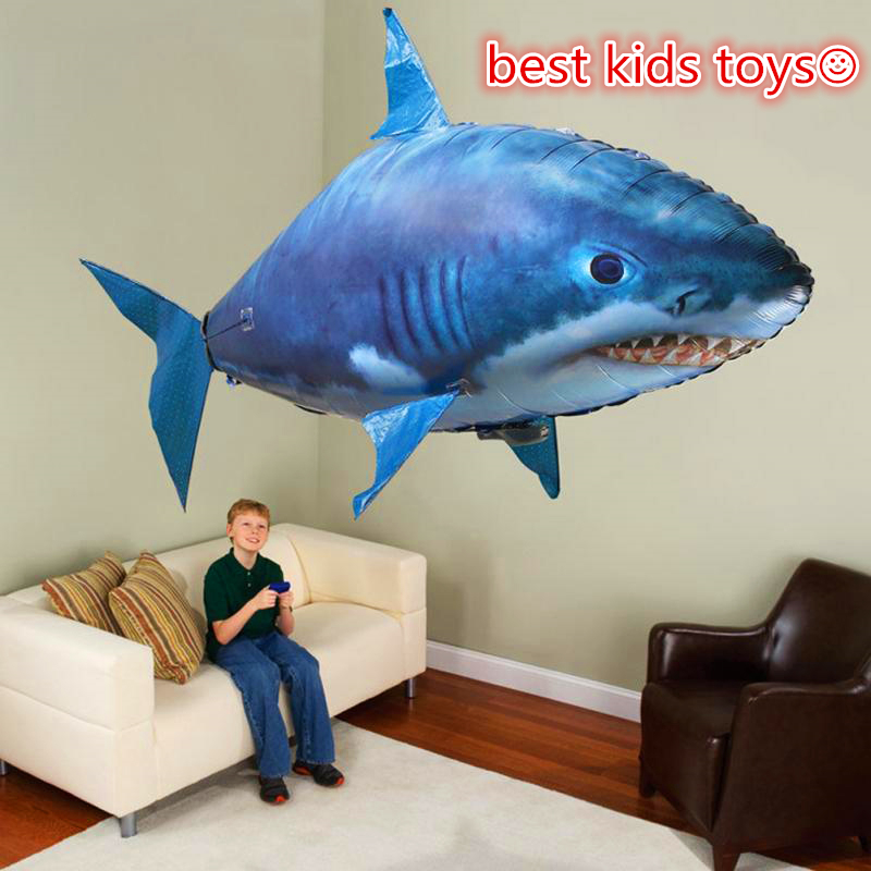 Remote Control Shark Toys Air Swimming Fish Infrared RC Flying Air Balloons Nemo Clown Fish Kids Toys Gifts Party Decoration 1pcs remote control flying air shark toy clown fish balloons rc helicopter robot gift for kids inflatable with helium fish plane