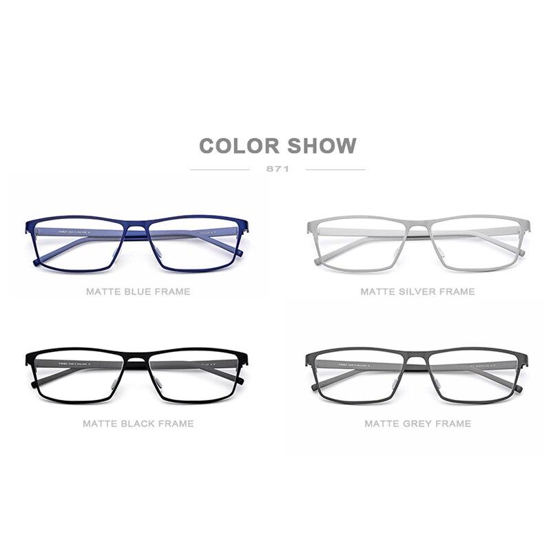 Montura de gafas de titanio puro FONEX montura de gafas 2019 nuevas gafas de prescripción para hombres gafas cuadradas montura óptica de miopía gafas - 5
