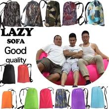 260*70cm Camping Fast Inflatable Air Sofa Bed Climbing Rest Air Sleep Lazy sofa Hangout Banana Sleeping Bag Outdoor Lazy Laybag