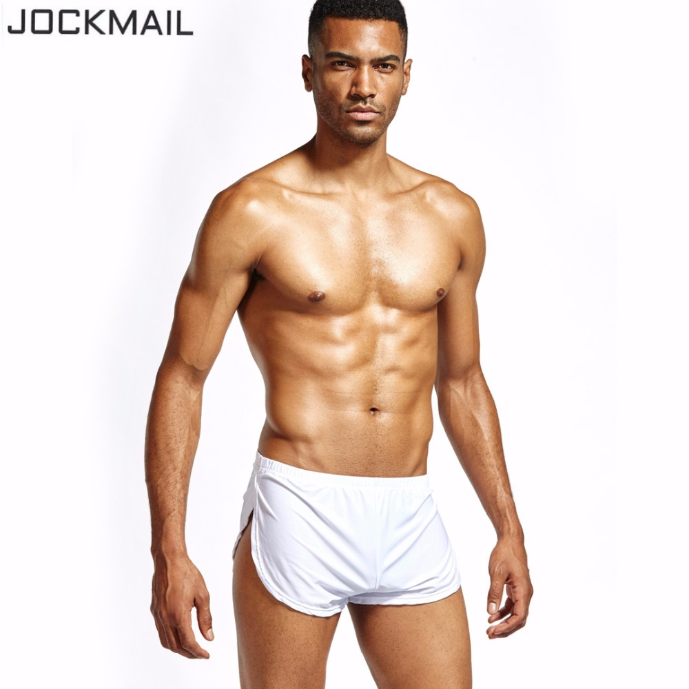 JOCKMAIL Boxer Shorts Sleepwear Trunks Penis-Pouch Gay Sexy Mens Brand Home High-Quality