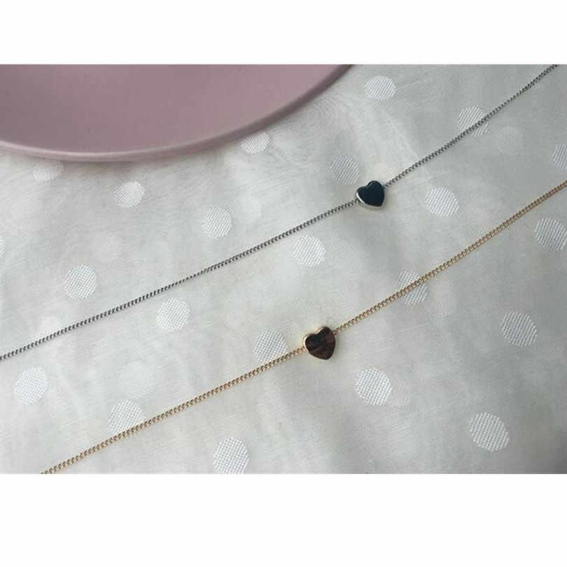 2019 جديد الذهب والفضة مطلي صغيرة القلب القلائد بيجو للنساء الياقات مجوهرات الأزياء الترقوة قلادة قلادة NA219