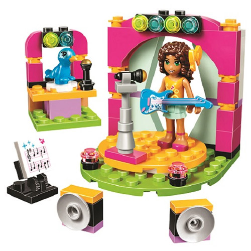 Bevle 10605 Bela Friends Series Andrea's Musical Duet Model Building Block Bricks Toys Gift For Children Friends 41309 bevle bela 10495 friends series luxury villa dream house princess room assemble building block toys compatible with lepin 41108