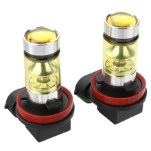 2pcs/set H11 H8 2323 LED 100W Headlight Fog Light Bulbs 12V 24V 4300K 1500LM Automobile Running Lights Driving Lamp new arrival 2pcs h8 h11 100w 20led hid 2323 fog driving drl light bulbs dr23