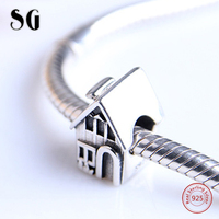 Charms European 925 Sterling Silver Family House Sweet Home Beads Fit Original Pandora Charms Bracelet Authentic