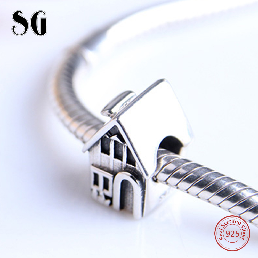 Charms European 925 Sterling Silver Family House Sweet Home Beads Fit Original Pandora Charms Bracelet Authentic Fashion Jewelry