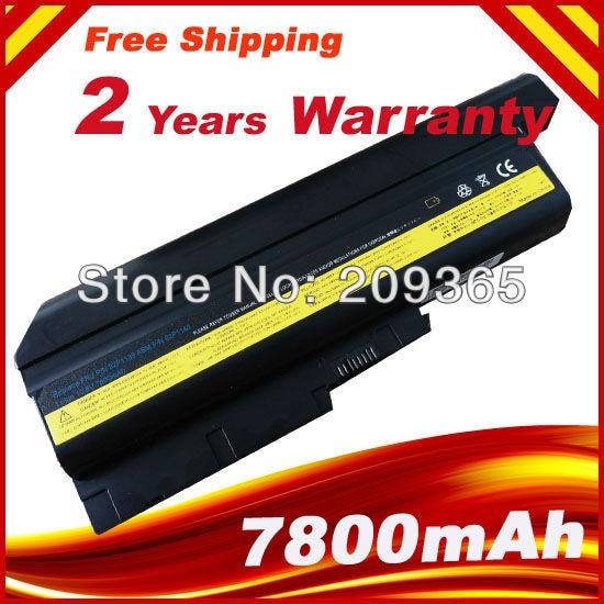 7800mAh Laptop Battery For IBM ThinkPad R60 R60e T60 T60p Z60m Z61e Z61m Z61p for Lenovo R500 T500 W500 цена