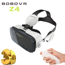 Original Google cardboard VR BOX 2 XiaoZhai bobo vr z4 Virtual Reality 3D Glasses VR Headset earphone movie+Bluetooth Controller