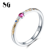 SG HOT Sale 925 Sterling Silver Star Zircon adjustable Ring Open Finger for Women Fashion Jewelry Gift