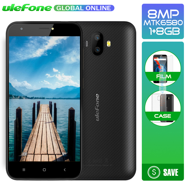 Ulefone S7 5.0 inch HD 3G Smartphone Dual Rear Cameras MTK6580 Quad Core Three Slots 1GB RAM 8GB ROM Android 7.0 Mobile phone