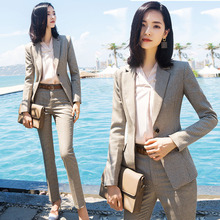 Suit set - 2019 autumn on the new explosions suit small plaid two-piece womens work daily two wear fashion