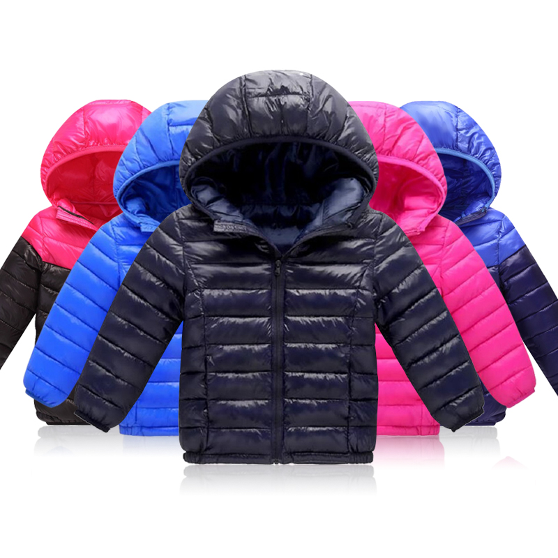 3-12Yrs Outerwear Girl Cold Winter Warm Hooded Coat