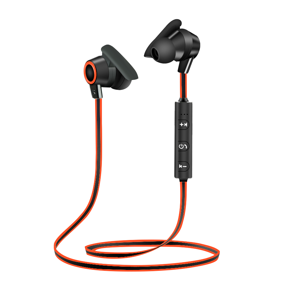 Wireless Bluetooth Headphone With Mic 4.1 Earphone Sport Headset Running Earbuds new metal magnetic wireless bluetooth headphone sport headset hands fress hifi earphone with mic for iphone samsung phones