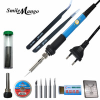 2017 60W 220V EU Electric Adjustable Temperature Welding Solder Soldering Iron Rework Repair Tool With Suction