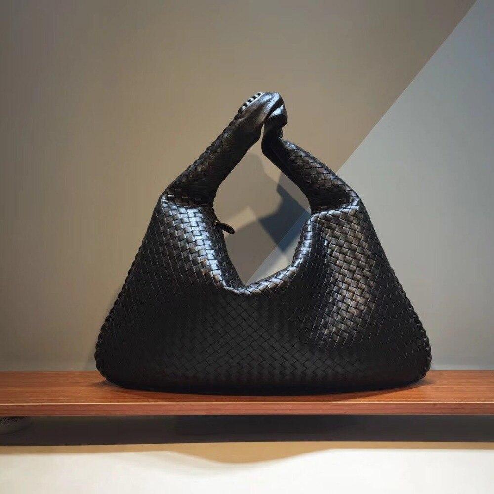Tête couche en peau de Mouton 2018 Interne et externe derme Nouveau modèle Haute-capacité Femme Wovenbag Le sac d'épaule simple