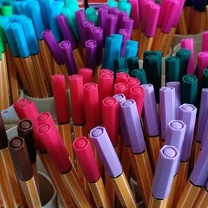 Image 5 - Stabilo 88 ファインライナーペン繊維ペン 0.4 ミリメートル罰金スケッチ色のゲルボールペンとカーテンセットアート絵画針ペンマーカー paperlaria