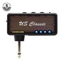 مضخم صوت معدني من Sonicake طراز armonix مزود بمقبس للغيتار الكهربائي سماعة أذن صغيرة محمولة وقابلة للشحن بمنفذ USB صوت كلاسيكي أمريكي