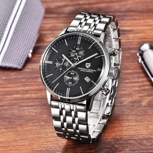 Fashion Chronograph Sports Watch Quartz Watch Luxury Brand PAGANI DESIGN 3