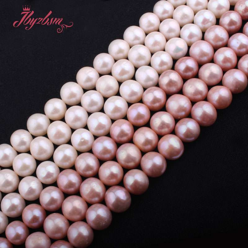 цены 9-10mm Round AA Grade Cultured Freshwater Pearl Beads Natural Stone Beads For Necklace Bracelat Jewelry Making 15