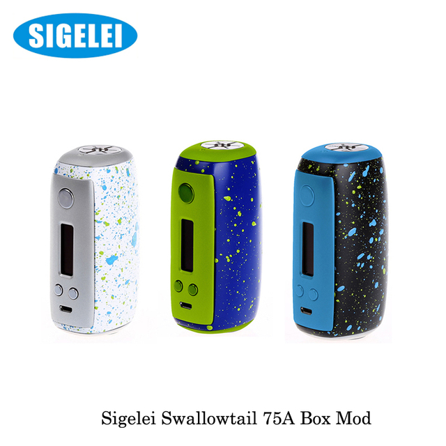 Original Sigelei Swallowtail 75A Support charging of POWER ON/OFF and charging max current can reach 2.5A without 18650 battery