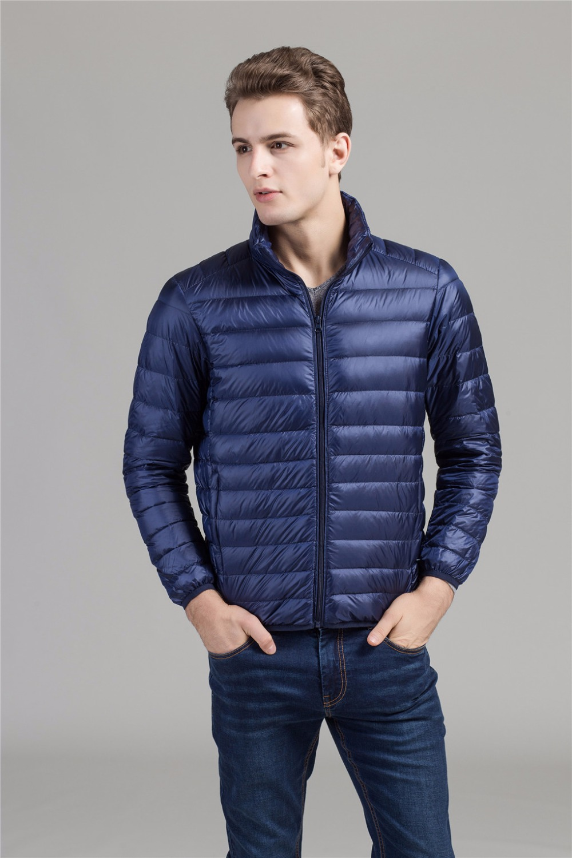 2017 Autumn Winter 90 Duck Down Jacket, Ultra Light Thin plus size winter jacket for men Fashion mens Outerwear coat