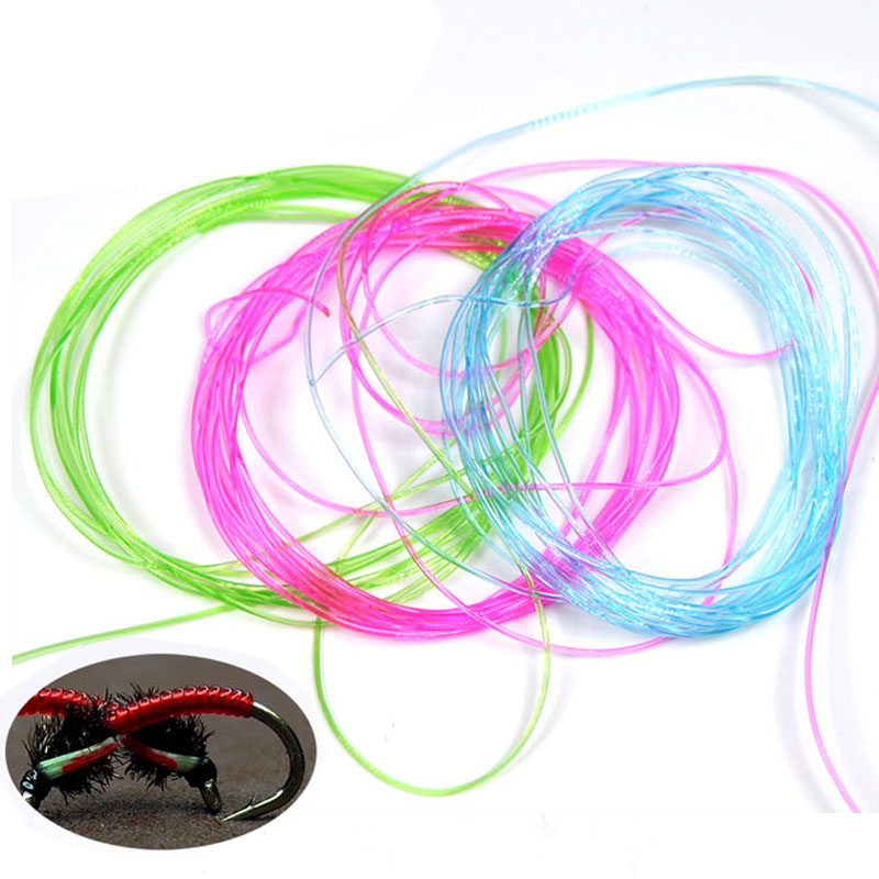 Clear Stretch Rib Round Larvae Lace Nymph Ribbing Material Body Fly Tying Line New Green Red Brown Pink Multiple Color