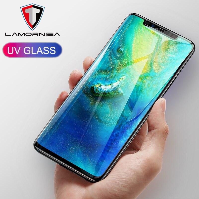 Nano Liquid UV Full Glue Tempered Glass For Huawei Mate 20 Pro Screen Protector For Honor