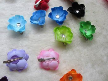 """Free Shipping 16 Colors 2.5"""" Moth orchids (Peony) Children's Hair Accessories Girl Head Flower Clips"""