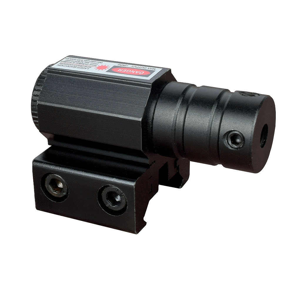 Mira con láser y punto rojo de WIPSON, potente Mini, juego de montaje Picatinny para pistola, Rifle, pistola, tiro, mira telescópica Airsoft
