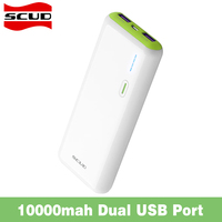 Original Scud 10000mAh Powerbank External Battery Charger Backup Universal For IPhone 5s 6s Samsung Xiaomi Phones