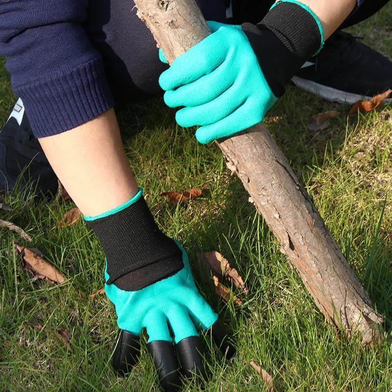 Gênio Do Jardim de borracha Luvas de Borracha Luvas de Segurança Luvas de Jardinagem ferramentas Para Virar Homem de Mão de Proteção Do Solo Do Jardim Ferramentas