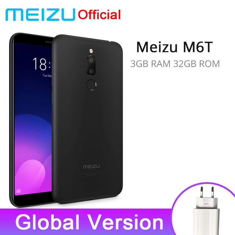 Official Global Version Meizu M6T 3GB 32GB Mobile Phone MTK6750 Octa Core 5.7″ Dual Rear Camera 3300mAh Battery Fingerprint ID