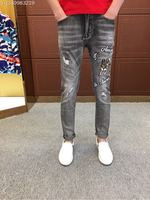 2018 new High Quality fashion Jeans Runway Summer man Brand Luxury Men's Clothing A08233
