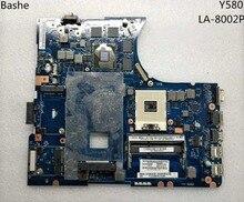 جديد لينوفو Y580 الكمبيوتر المحمول اللوحة LA 8002P إنتر HM76 GTX660 مستقلة بطاقة الفيديو اللوحة اختبار كامل شحن مجاني