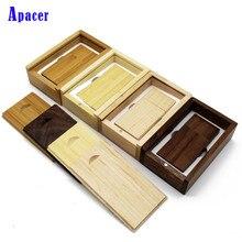 Apacer wooden LOGO usb flash drive 4gb 8gb 16gb Pendrive 32gb 64gb usb stick