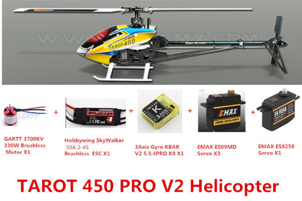 Tarot 450 Advanced Version PRO V2 FBL Helicopter 50A ESC
