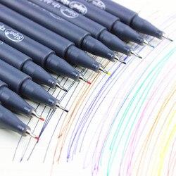 10 pçs/lote caneta cor desenho para Fine line projeto 0.38 mm água cor canetas Micron stylo material escolar papelaria F954