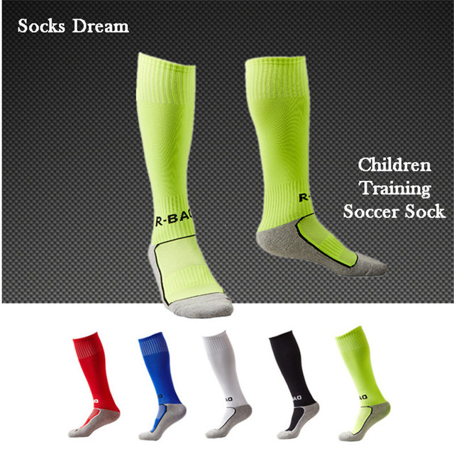 e19afc0f06f 5 Colors Kids Soccer Socks Boys Girls Leggings Cotton Kids Football Socks  Sports Knee High Socks Children Soccer Sock