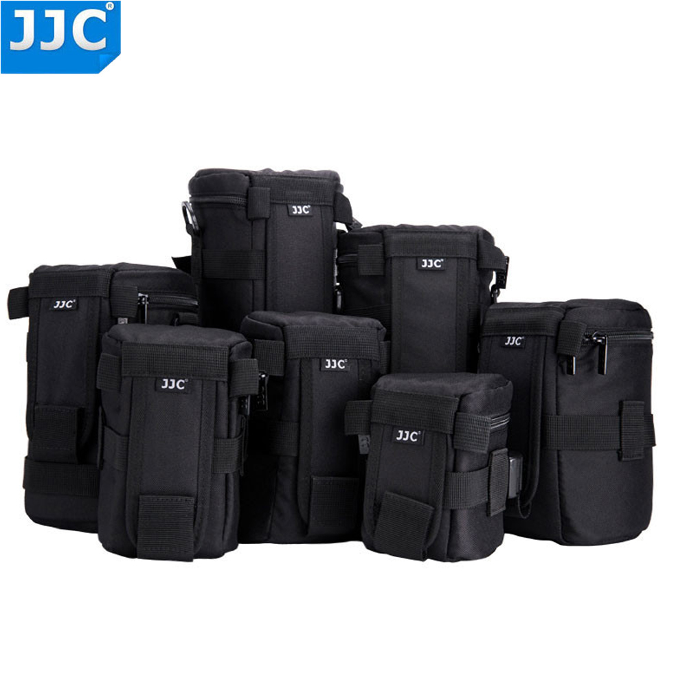 JJC Nylon Deluxe Case Water-resistant Protector Lens Bag for Sony A5000 a5100 a6000 Canon 1300D Nikon D7200 P900 D5300 DSLR title=