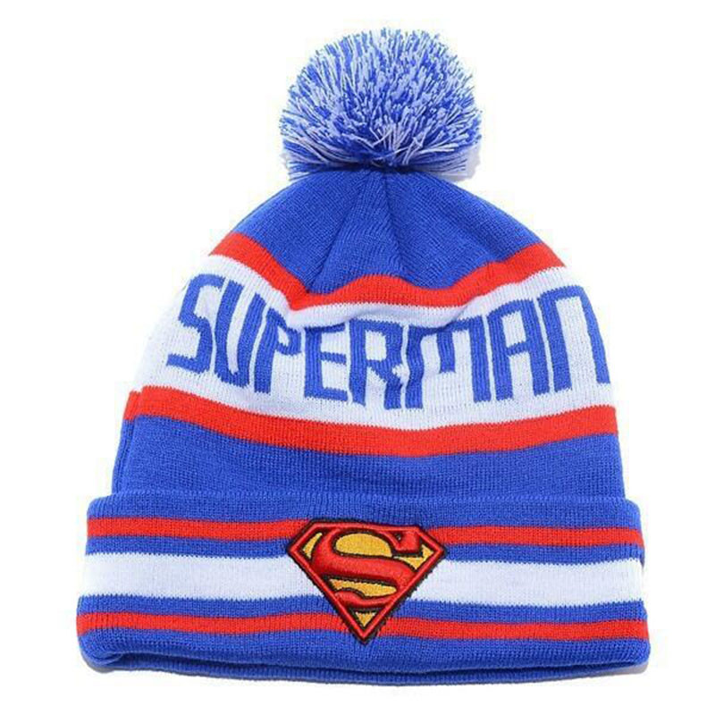 903be4f3405 New 3D Superman knitted hat women Men hat cap Winter Knitted Wool Cap  Unisex Hip-Hop Skullies hat Beanie Hat Casual Gorro cap