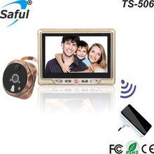 """デジタルピープカメラドアビューア多言語記録可能なドアのカメラ Saful ドアベル送料無料 """"TFT-LCD"""